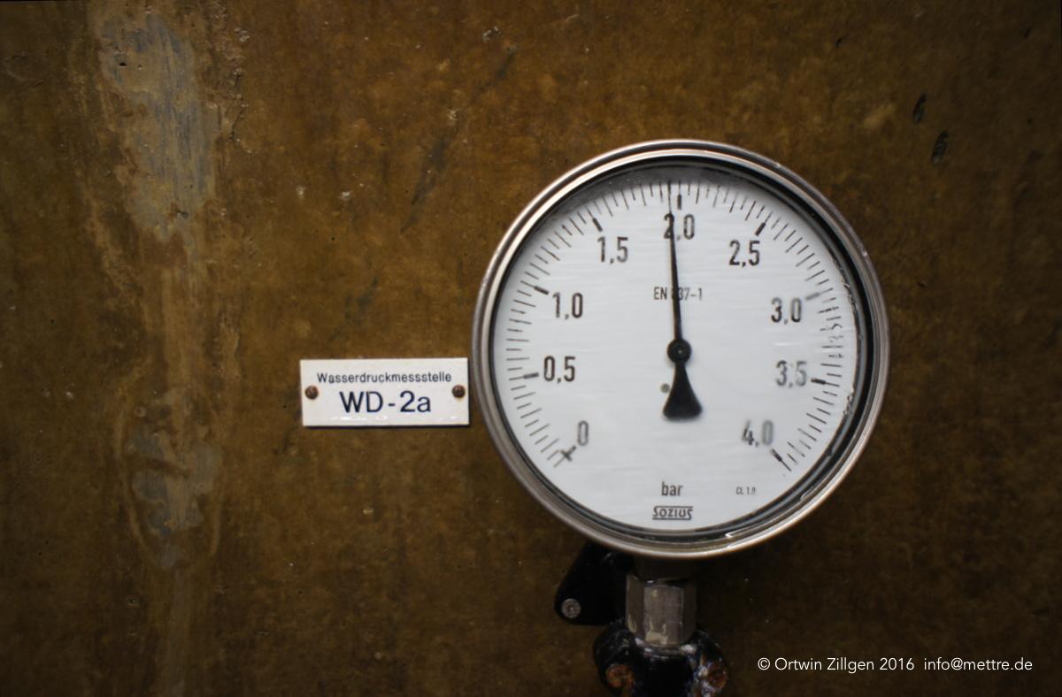 Wasserdruck-Meßstelle